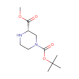 (S)-1-N-Boc-piperazine-3-carboxylic acid methyl ester,CAS No. 314741-39-4.