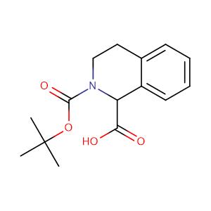 2-(tert-Butoxycarbonyl)-1,2,3,4-tetrahydroisoquinoline-1-carboxylic acid,CAS No. 166591-85-1.