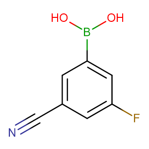 3-Cyano-5-fluorophenylboronic acid,CAS No. 304858-67-1.