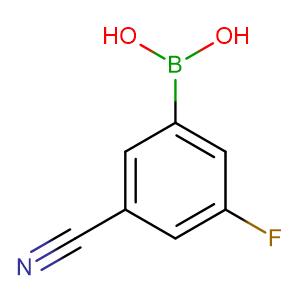 3-Cyano-5-fluorophenylboronic acid,CAS No. 304858-67-1.