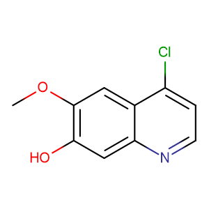 4-Chloro-6-methoxyquinolin-7-ol,CAS No. 205448-31-3.