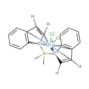 rac-Dimethylsilylbis(1-indenyl)zirconium dichloride,CAS No. 121009-93-6.