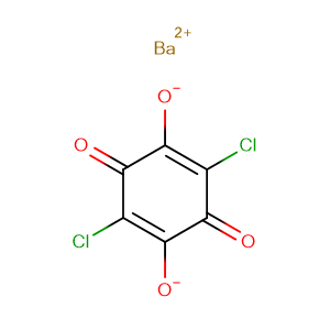 2,5-Cyclohexadiene-1,4-dione, 2,5-dichloro-3,6-dihydroxy-, barium salt (1:1),CAS No. 13435-46-6.