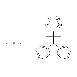 Isopropylidene(cyclopentadienyl)(9-fluorenyl)zirconium dichloride,CAS No. 115678-03-0.