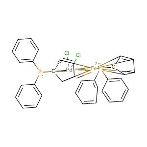 (1,1'-bis(diphenylphosphino)ferrocene)palladium(II) dichloride,CAS No. 72287-26-4.