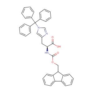N-Fmoc-N'-trityl-L-histidine,CAS No. 109425-51-6.