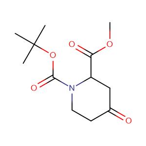 4-Oxo-1,2-piperidinedicarboxylic acid 1-(tert-butyl) 2-methyl ester,CAS No. 81357-18-8.