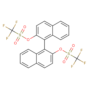 (R)-(-)-1,1'-Binaphthol-2,2'-bis(trifluoromethanesulfonate),CAS No. 126613-06-7.