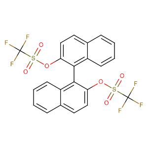 (R)-(-)-1,1'-Binaphthol-2,2'-bis(trifluoromethanesulfonate),CAS No. 126613-06-7.