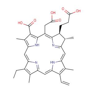Chlorin E6,CAS No. 19660-77-6.