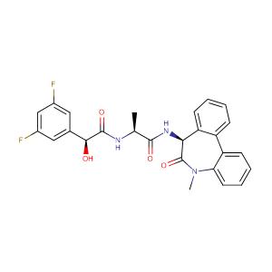 (aS)-N-[(1S)-2-[[(7S)-6,7-Dihydro-5-methyl-6-oxo-5H-dibenz[b,d]azepin-7-yl]amino]-1-methyl-2-oxoethyl]-3,5-difluoro-alpha-hydroxybenzeneacetamide,CAS No. 209984-57-6.