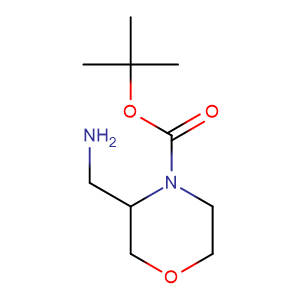 3-Aminomethylmorpholine-4-carboxylic acid tert-butyl ester,CAS No. 475106-18-4.