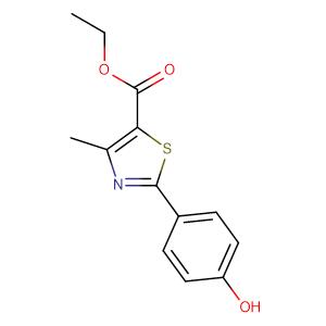 Ethyl2-(4-hydroxyphenyl)-4-methylthiazole-5-carboxylate,CAS No. 161797-99-5.