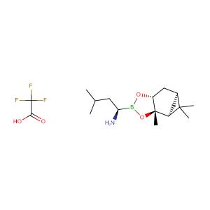 (R)-3-Methyl-1-((3aS,4S,6S,7aR)-3a,5,5-trimethylhexahydro-4,6-methanobenzo[d][1,3,2]dioxaborol-2-yl)butan-1-amine 2,2,2-trifluoroacetate,CAS No. 179324-87-9.