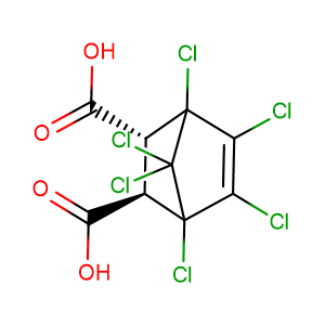 Chlorendic acid,CAS No. 115-28-6.