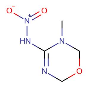 3,6-Dihydro-3-methyl-N-nitro-2H-1,3,5-oxadiazin-4-amine,CAS No. 153719-38-1.