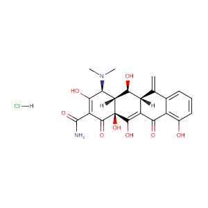 Metacycline hydrochloride,CAS No. 3963-95-9.
