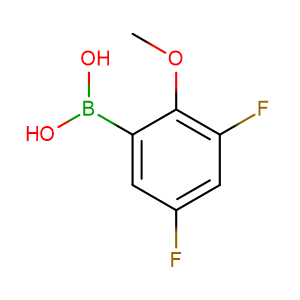 3,5 - Difluoro - 2 - methoxyphenylboronic acid,CAS No. 737000-76-9.