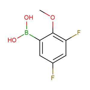 3,5 - Difluoro - 2 - methoxyphenylboronic acid,CAS No. 737000-76-9.