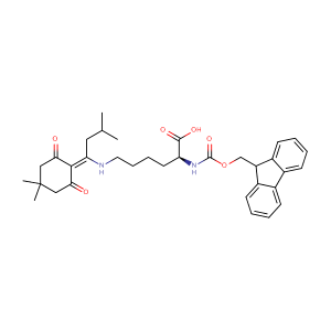 N-Fmoc-N'-[1-(4,4-Dimethyl-2,6-dioxocyclohex-1-ylidene)-3-methylbutyl]-L-lysine,CAS No. 204777-78-6.