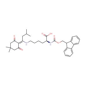 N-Fmoc-N'-[1-(4,4-Dimethyl-2,6-dioxocyclohex-1-ylidene)-3-methylbutyl]-L-lysine,CAS No. 204777-78-6.