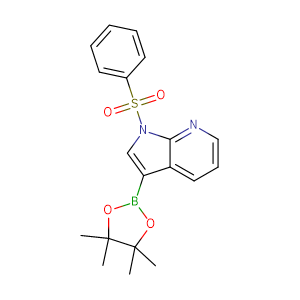 1-(Phenylsulfonyl)-3-(4,4,5,5-tetramethyl-1,3,2-dioxaborolan-2-yl)pyrrolo[2,3-b]pyridine,CAS No. 886547-94-0.