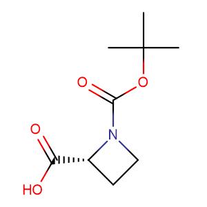 Boc-D-Azetidine-2-carboxylic acid,CAS No. 228857-58-7.
