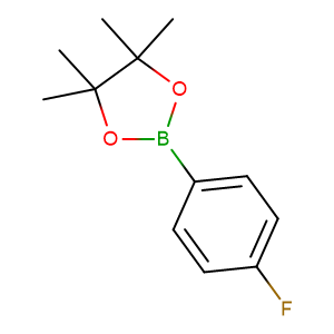 4 - Fluorophenylboronic acid pinacol ester,CAS No. 214360-58-4.
