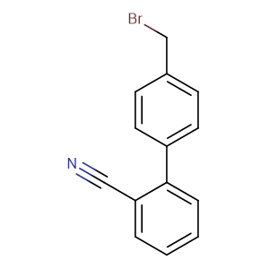 4-Bromomethyl-2-cyanobiphenyl,CAS No. 114772-54-2.