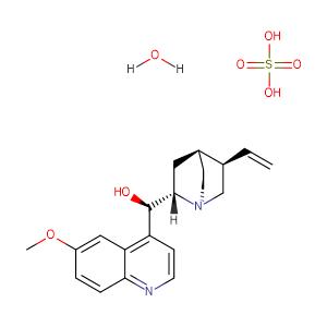 quinine,CAS No. 6119-70-6.