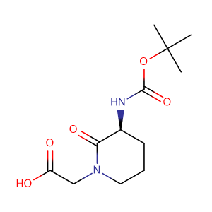 (S)-2-(3-(tert-Butoxycarbonylamino)-2-oxopiperidin-1-yl)acetic acid,CAS No. 74411-97-5.