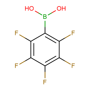 Perfluorophenylboronic acid,CAS No. 1582-24-7.