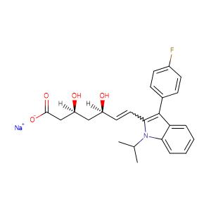 fluvastatin sodium,CAS No. 93957-55-2.