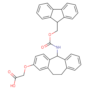 2-((5-((((9H-Fluoren-9-yl)methoxy)carbonyl)amino)-10,11-dihydro-5H-dibenzo[a,d][7]annulen-2-yl)oxy)acetic acid,CAS No. 212783-75-0.