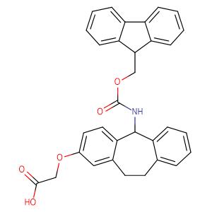 2-((5-((((9H-Fluoren-9-yl)methoxy)carbonyl)amino)-10,11-dihydro-5H-dibenzo[a,d][7]annulen-2-yl)oxy)acetic acid,CAS No. 212783-75-0.