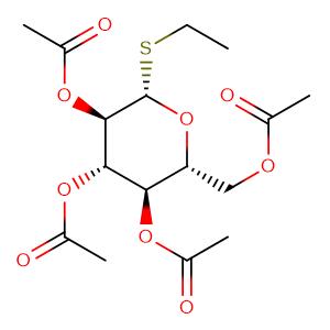 Ethyl 2,3,4,6-tetra-O-acetyl-β-D-thioglucopyranoside,CAS No. 52645-73-5.