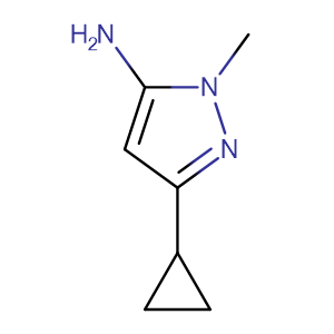 3-cyclopropyl-1-methyl-1H-pyrazol-5-amine,CAS No. 118430-74-3.