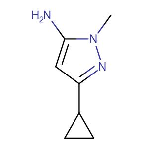 3-cyclopropyl-1-methyl-1H-pyrazol-5-amine,CAS No. 118430-74-3.