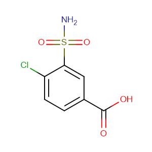 4-Chloro-3-sulfamoylbenzoic acid,CAS No. 1205-30-7.