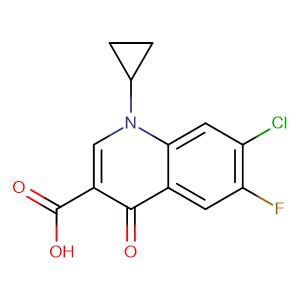 7-Chloro-1-cyclopropyl-6-fluoro-1,4-dihydro-4-oxoquinoline-3-carboxylic acid,CAS No. 86393-33-1.