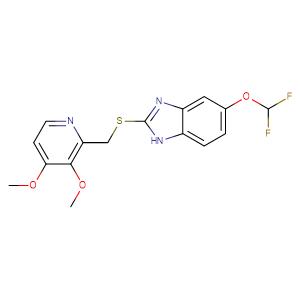 5-Difluoromethoxy-2-{[(3,4-dimethoxy-2-pyridinyl)methyl]thio}-1H-benzimidazole,CAS No. 102625-64-9.