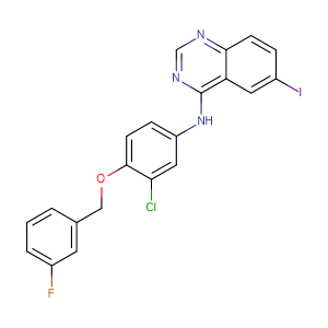 N-(3-Chloro-4-((3-fluorobenzyl)oxy)phenyl)-6-iodoquinazolin-4-amine,CAS No. 231278-20-9.