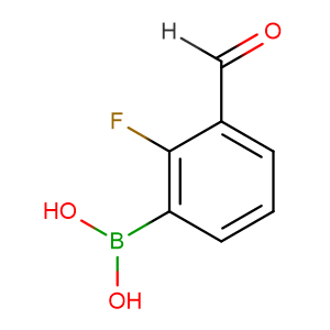 2-Fluoro-3-formylphenylboronic acid,CAS No. 849061-98-9.