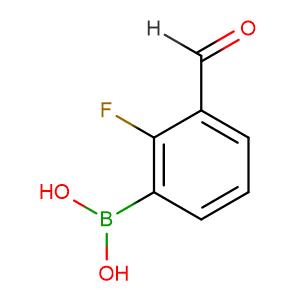 2-Fluoro-3-formylphenylboronic acid,CAS No. 849061-98-9.