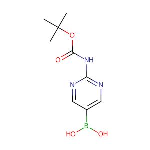 (2-((tert-Butoxycarbonyl)amino)pyrimidin-5-yl)boronic acid,CAS No. 883231-25-2.