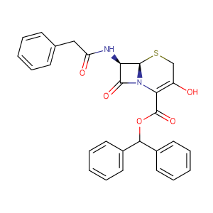 (6R,7R)-Benzhydryl 3-hydroxy-8-oxo-7-(2-phenylacetamido)-5-thia-1-azabicyclo[4.2.0]oct-2-ene-2-carboxylate,CAS No. 54639-48-4.