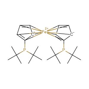 1,1'-bis-(di-tert-butylphosphino)ferrocene,CAS No. 84680-95-5.