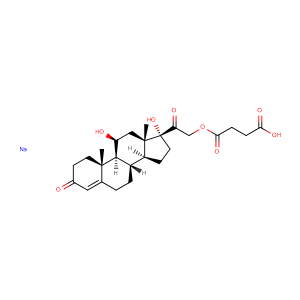 Hydrocortisone sodium succinate,CAS No. 125-04-2.