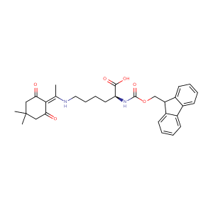 N6-[1-(4,4-dimethyl-2,6-dioxocyclohexylidene)ethyl]-N2-[(9H-fluoren-9-ylmethoxy)carbonyl]-L-Lysine,CAS No. 150629-67-7.