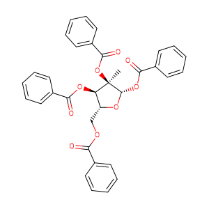 1,2,3,5-Tetra-O-benzoyl-2-C-methyl-beta-D-ribofuranose,CAS No. 15397-15-6.
